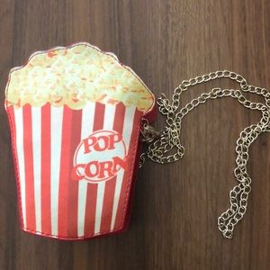 Handbags - Red Retro Popcorn Crossbody Purse